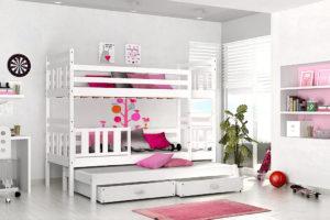ArtAJ Detská poschodová postel 3-os Nemo Farba: borovica bez matracov