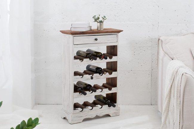 Elegantný regál na víno Provence / biela - mahagónová Skladom na SK $ 50661963
