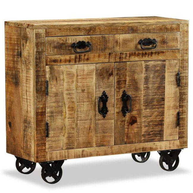 vidaXL Komoda s 2 zásuvkami a 1 skrinkou z mangového dreva