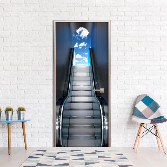 Bimago Fototapeta na dvere - Escalator 100x210 cm