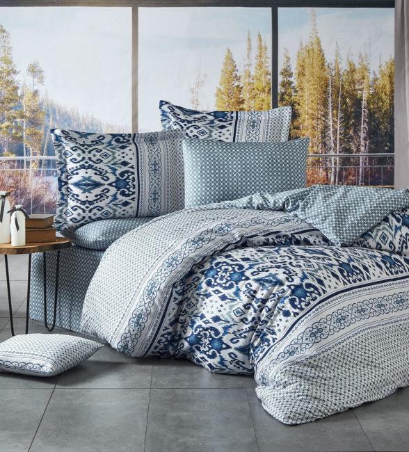 Ovitex Luxusné saténové obliečky Kírlow Mavi ,140x200/ 70x90 cm
