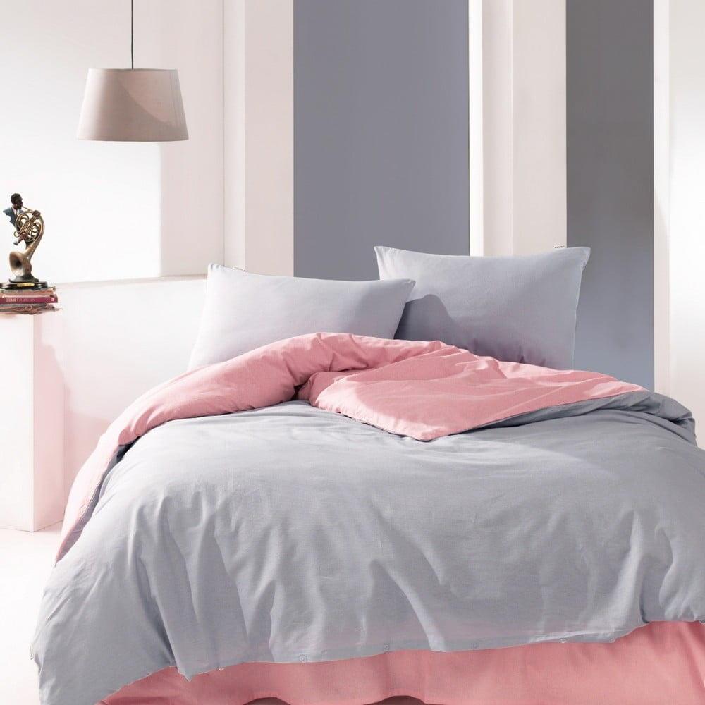 Bavlnené obliečky na jednolôžko Suzy Pink, 160 × 220 cm