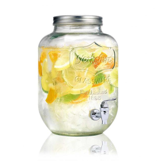 Sklenená nádoba na limonádu 4 l.