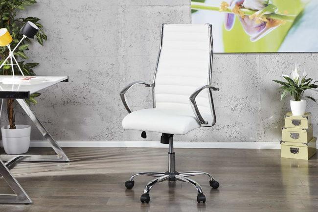 Kancelárska stolička Boss biela