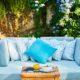 Štýlové DIY paletové sedenie a stôl do záhrady