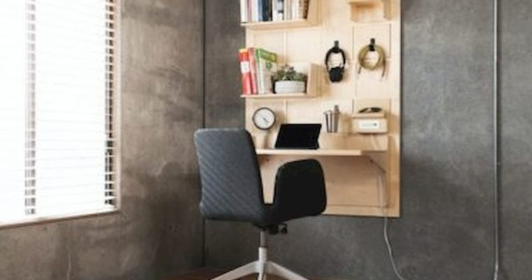 Nástenný pracovný priestor DASH pre efektívnu prácu z domova